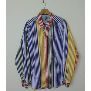 Vintage Tommy Hilfiger XL Multicolored Striped
